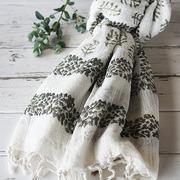手織り生地のマルチカバー(gr)