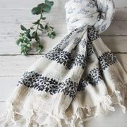 手織り生地のマルチカバー(kon)
