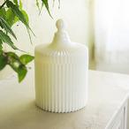 ミルクガラス・パヒュームケースLサイズ(WH)