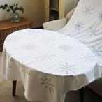 スノーフレーク刺繍コットンクロス(b)